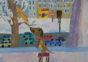 Итоги конкурса детских рисунков от «Динала» «Новосибирск в моем окне»