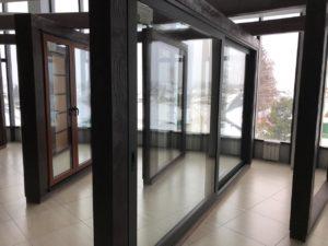 Новое изделие! Алюминиевые панорамные раздвижные двери.