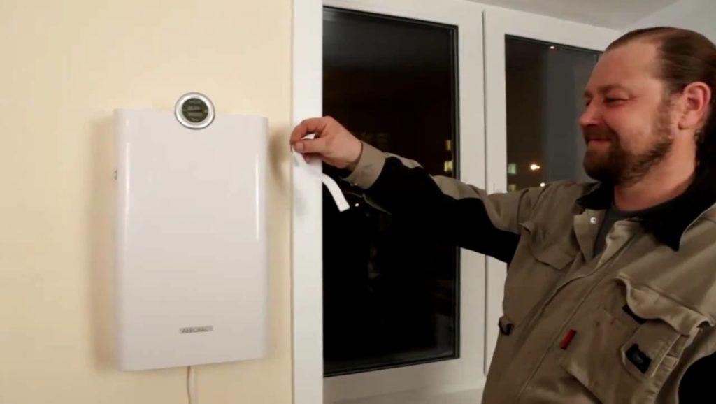 Монтаж прибора приточной вентиляции