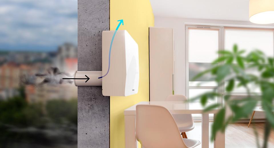 Изображение системы приточной вентиляции