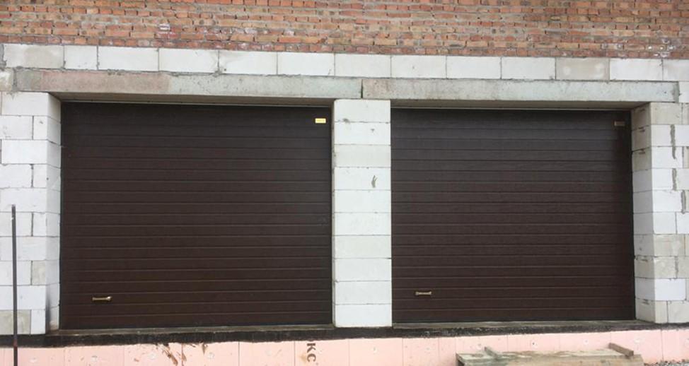 Изображение секционных ворот для гаража